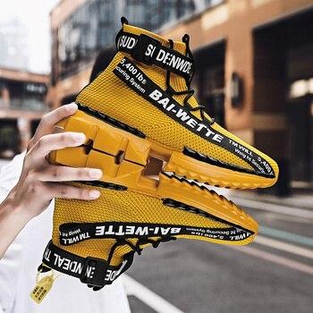 Fashion High Top Sock Shoes Sneakers Men Shoes 2020 Mens Shoes Casual Hip Hop Shoes Men Lightweight Big Size 47 Zapatos Hombre fashion colorful platform men casual shoes breathable men designer shoes hip hop luxury brand couple sneakers men zapatos hombre