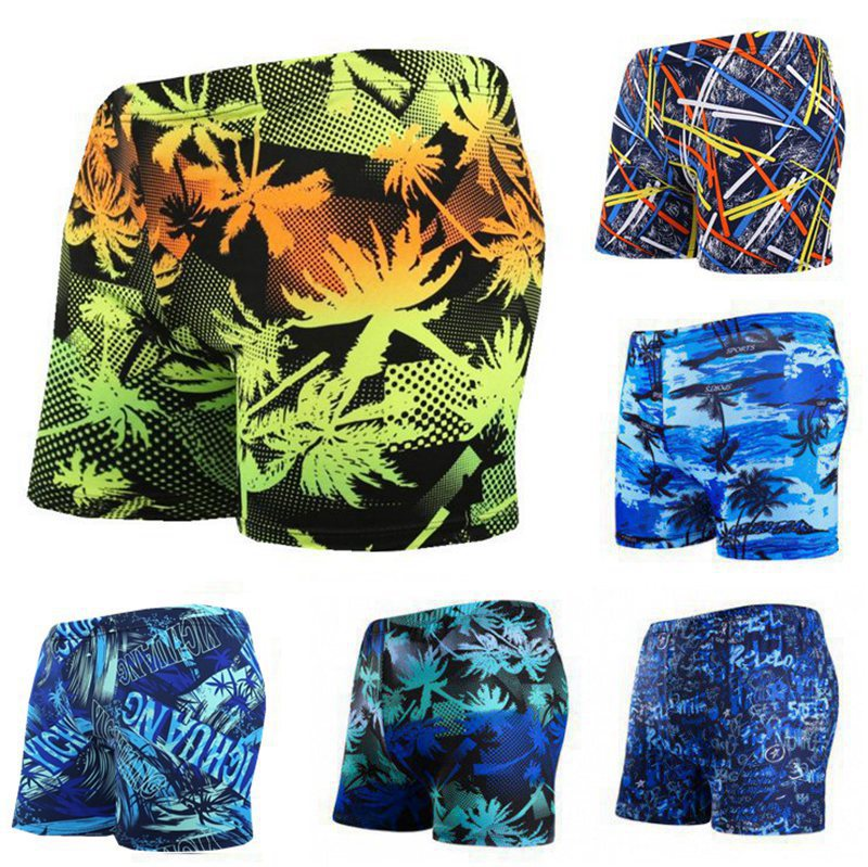 Swimming Trunks 300 Wearable Boxer Fashion Casual Floral Large Size Beach Hot Springs Quick-Dry Swimming Trunks New Style