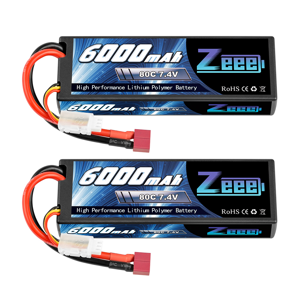 HRB 2s Lipo Battery 7.4V 55C 7000mAh Hardcase Lipo Batteries Pack with Traxxas Plug for 1//8 1//10 RC Car Model Traxxas Slash Buggy Team Associated