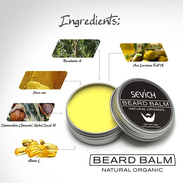 Sevich Natural Beard Balm Beard Conditioner Professional For Beard Growth Organic Mustache Wax For Beard Smooth Styling 5