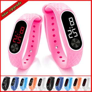 Bracelet Watch Clock LED Digital Girls Electronic Sport Boys Kids Child NEW for Wrist