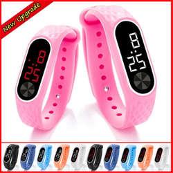 Браслет Детские часики дети для обувь девочек мальчиков спортивные электронные наручные часы светодиодный цифровой ребенок