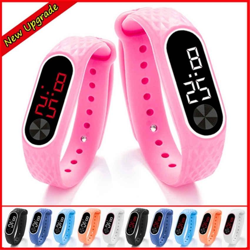 Montres enfant nouveau LED montre-Bracelet numérique Bracelet enfants montre de sport de plein air pour garçons filles horloge de Date électronique Reloj Infantil