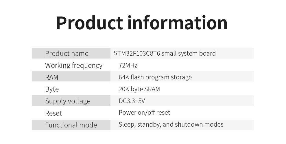 Darmowa wysyłka STM32F103C8T6 ARM STM32 minimalna systemowa płyta modułu rozwojowego dla arduino 32F103C8T6 7