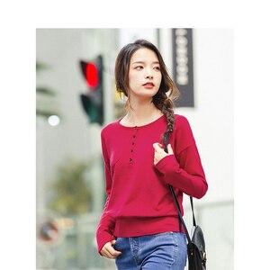 Image 3 - אינמן עגול צווארון כבוי כתף בתוך לסרוג ללבוש כל התאמה נשים בסוודרים סוודר