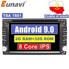 Eunavi Universal 2 Din Android 9.0 Car Dvd Player GPS+wifi+b