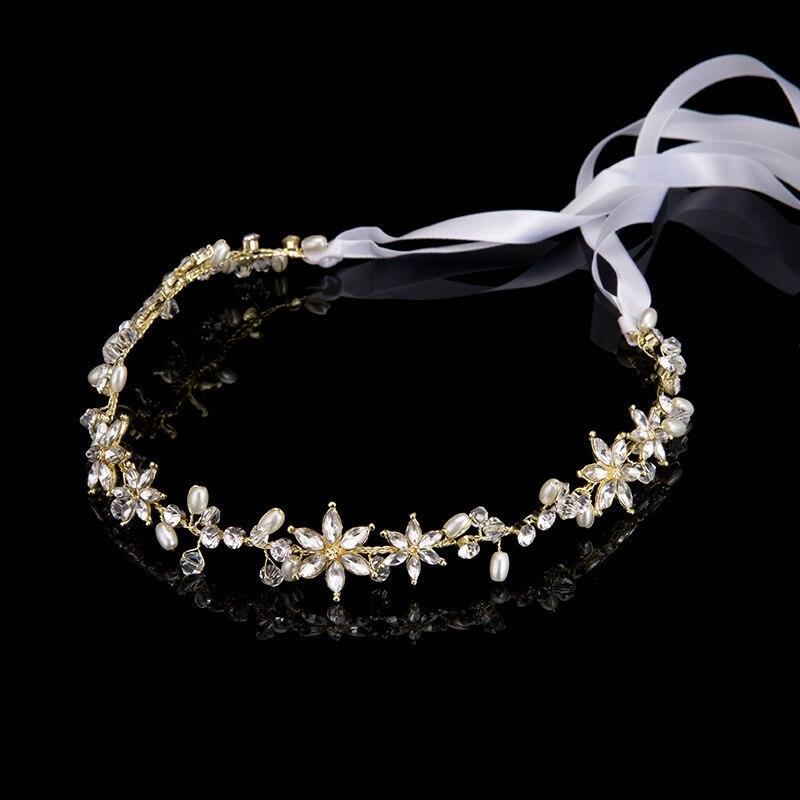 Korean Rhinestone Bride's Forehead Hair Accessories Photo Studio Bride Hair Lead Jewelry Wedding Dress Accessories