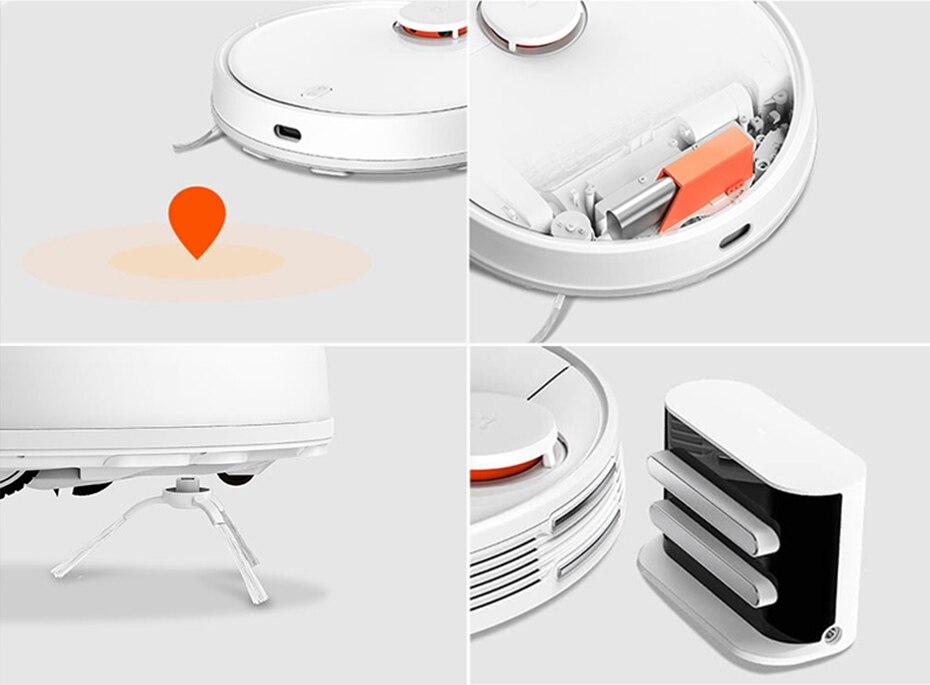 H21b623583c784019bb8b1e3197349f02J Xiaomi Robot Vacuum Cleaner STYTJ02YM Sweeping Mopping Floor Smart Planned LDS+WiFi Mijia App 2100Pa S50