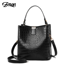 ZMQN Black Bucket Bags Women Crocodile Leather Crossbody Bags Luxury Handbags Ladies Hand Bags Shoulder 2020 Bolsa Feminina A583