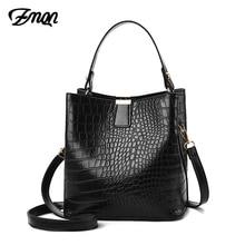 ZMQN Schwarz Eimer Taschen Frauen Krokodil Leder Umhängetaschen Luxus Handtaschen Damen Hand Taschen Schulter 2020 Bolsa Feminina A583