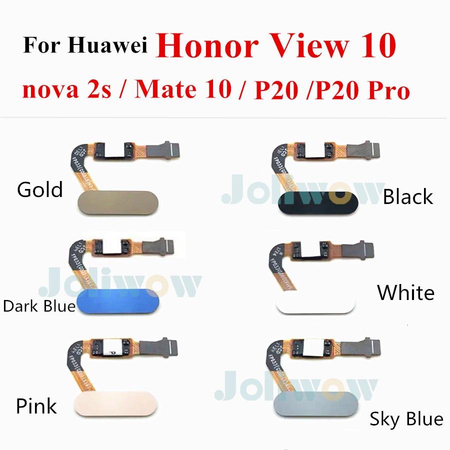 Image 2 - ホームボタン Huawei 社 honor V10 nova 2s p20 p20 プロメイトのため 10 honor ビュー 10 指紋センサースキャナフレックスケーブル携帯電話用フレックスケーブル   -