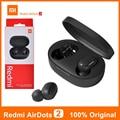 Оригинальные спортивные наушники Air Dots 2 Xiaomi Redmi Airdots 2 S 5,0 Bluetooth наушники гарнитура TWS наушники для Xiaomi Mi 11 10