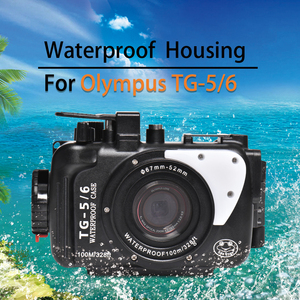 Image 2 - Underwater Camera Case For Olympus TG5 TG6 Waterproof Aluminum alloy Protective Cover with Vacuum System Big Promotion 1 sets