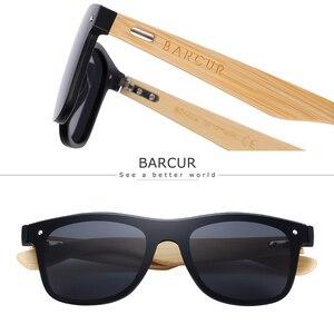 Image 3 - BARCUR Óculos De Madeira de Nogueira Preta Acessórios Óculos de Sol Óculos Feminino/Masculino óculos de Sol óculos Sem Aro para Os Homens