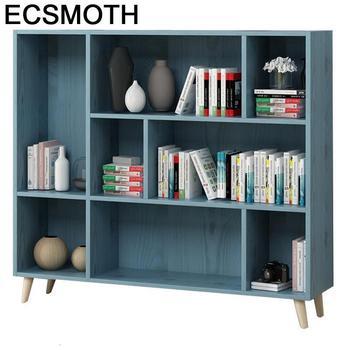 Mobilya-Libreria Industrial para el hogar, Mueble De madera Vintage, Retro, decoración, estantería