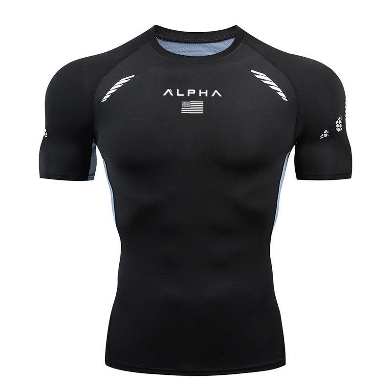 2020 Men's Running Compression T-shirt Running Gym T-shirt Men Quick-drying Tight T-shirt Men Sports Fitness T-shirt