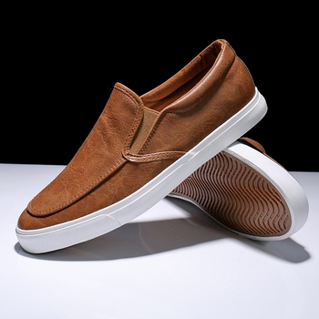 New Men Casual Shoes Pu Leathers Fashion Loafers Sneakers Men Casual Low-cut Slip-on Zapatos De Hombre Espadrilles High Quality