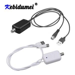 Image 1 - Kebidumei 4K דיגיטלי מגבר Booster טלוויזיה דיגיטלית אנטנה 300 קילומטר טווח HD מקורה HDTV 1080P HD טלוויזיה אנטנה שטוח עיצוב