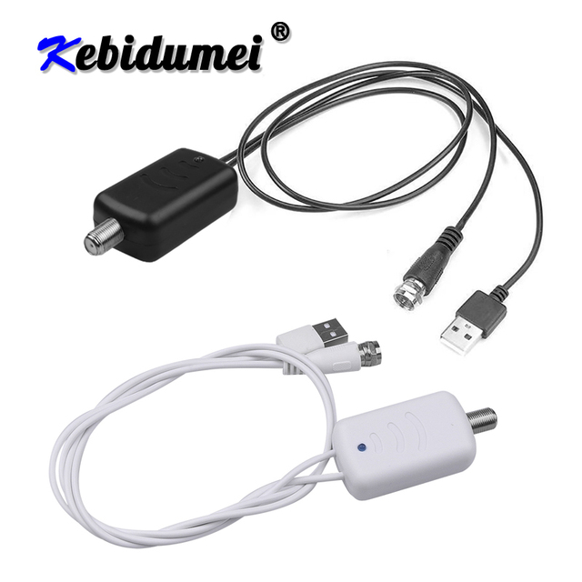 Kebidumei 4K Digital Amplifier Booster Digital TV Antenna 300 Mile Range HD Indoor HDTV 1080P HD TV Antenna Flat Design