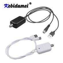 Kebidumei Amplificador Digital 4K, potenciador de Antena De TV Digital, rango de 300 millas, HD, interior, HDTV, 1080P, HD, antena de TV, diseño plano