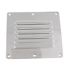 Marine Boat Stainless Steel Hardware Air Vent Grill Cover Ventilation Louver 5 x 4.5 Inch (127 114mm)