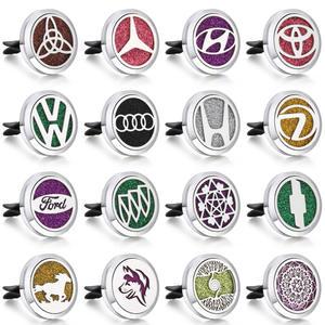 Clip Car-Perfume-Diffuser Essential-Oil Car-Air-Freshener Car-Logo Brand New Gifts