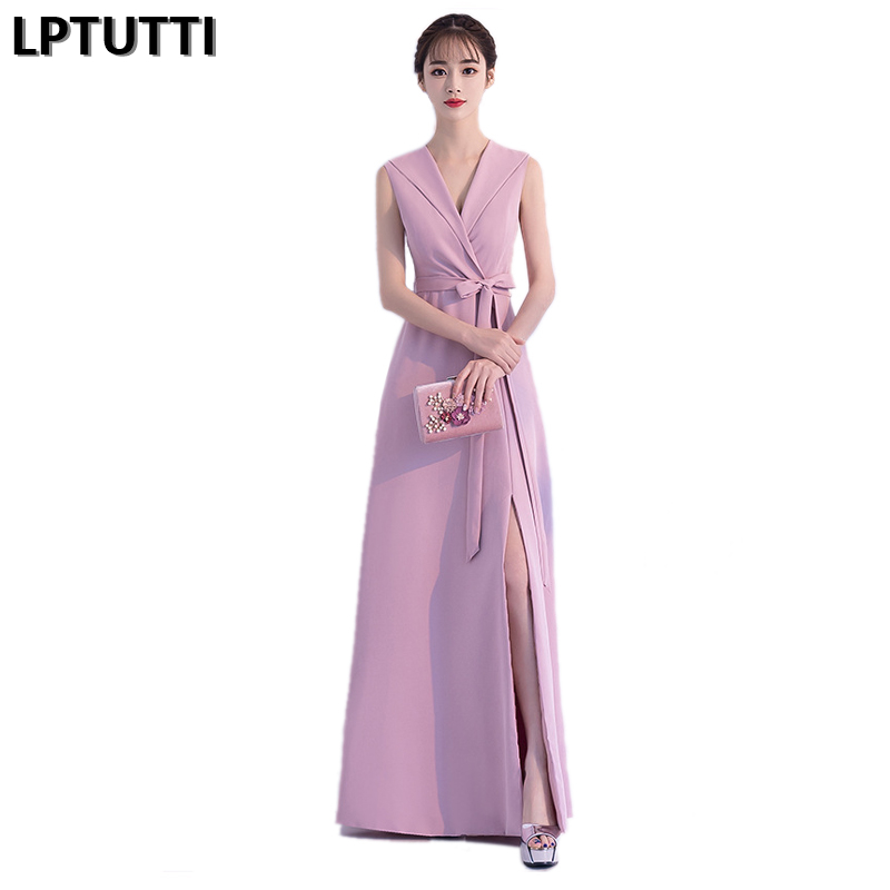 LPTUTTI Sexy V-neck New For Women Elegant Date Ceremony Party Prom Gown Formal Gala Events Luxury Long Evening Dresses