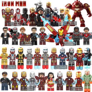 Iron Man MK50 jedna sprzedaż Avengers superbohater kompatybilny Legoingly figurki klocki zestaw klocków zabawki modele dla dzieci tanie i dobre opinie kaygoo Certyfikat marvel avengers 907 929 879 410 027 028 029 030 031 032 033 034 D009 Unisex 3 lat no original box compatible with legoinlyes toys for children kids