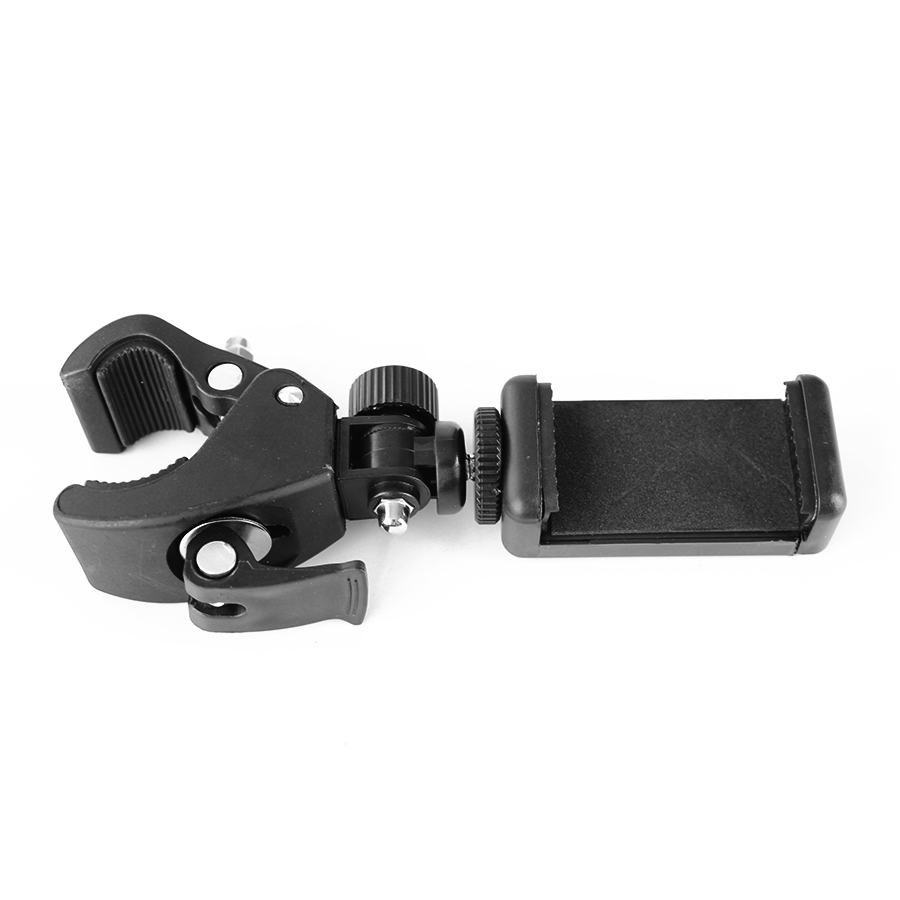 Smartphone Mobile Phone Holder for Tripod Flexible Cellphone Mount for Thick Stick Tripod Phone Holder for iPhone Samsung Huawei