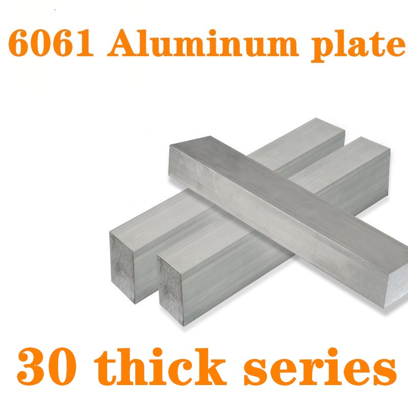 1pc 6061 Aluminum Flat Bar Flat Plate Sheet  30mm thick series with Wear Resistance For Machinery Parts