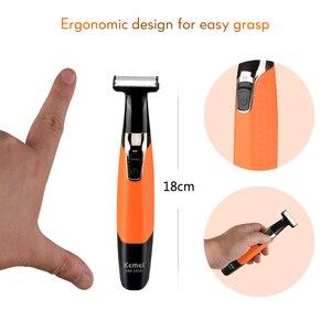 Image 5 - Kemei máquina de afeitar eléctrica recargable para hombre, afeitadora de barba recíproca, Afeitadora eléctrica a prueba de agua, 100 240V 40D