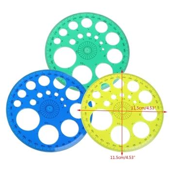 Kątomierz 360 stopni okrągły szablon linijki koło szkolne materiały kreślarskie tanie i dobre opinie CN (pochodzenie) Z tworzywa sztucznego Q6PA5AC600407 Ruler Protractor Plastic One Size 11 5cm(4 53in)