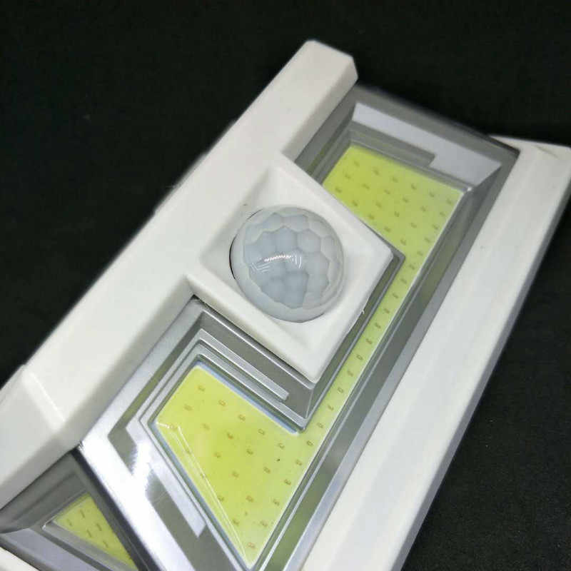 72 светодиодный светильник на солнечной батарее, инфракрасный PIR датчик движения, настенный светильник, безопасность, наружное освещение, водонепроницаемый IP55 сад для тропинки