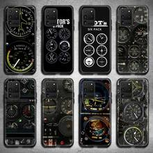 Cassa del telefono dello strumento della cabina di guida dellelicottero dellaeroplano di aviazione per Samsung Galaxy S21 più Ultra S20 FE M11 S8 S9 più S10 5G lite