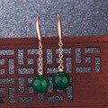 14K Gold Gefüllt Ohrring Natürliche Jade Schmuck Bizuteria Frauen Ohrringe Orecchini Granat Hochzeit Smaragd Edelstein Tropfen Ohrringe