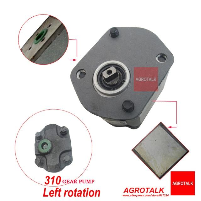 CBN-E310L de bomba hidráulica, Rotación izquierda, conexión plana y salida de aceite final para tractor Jinma JM184-JM254