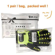 Cut resistant protective safety work gloves Anti vibration Anti shock Oil resistant best protective work safety gloves