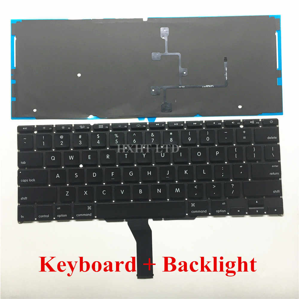 """جديد A1370 A1465 الولايات المتحدة الأمريكية لوحة المفاتيح مع الخلفية ل ماك بوك اير 11 """"A1370 A1465 محمول لوحة المفاتيح 2011 2012 2013 2014 2015 سنة"""