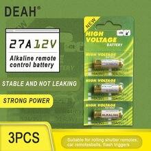 3PCS Nova Dry 27A 12V A27 Bateria Alcalina Para Campainha de alarme de Carro de controle Remoto G27A MN27 MS27 GP27A A27 L828 V27GA ALK27A A27BP