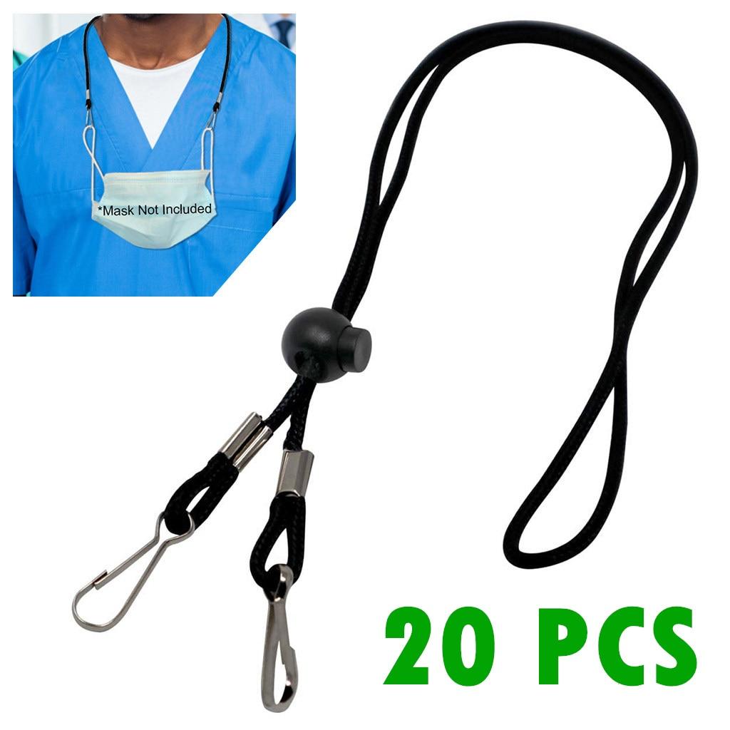 20pcs Adjustable Mask Extension Face Mask Lanyard Handy&Convenient Safety Mask Rest&Ear Holder Rope hang on neck String dropship(China)