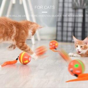 Image 3 - Pet Elektrische Katze Rolling Ball Spielzeug Usb Led Ball Katze Spielzeug Intelligenz Springen Ball Hund Spielzeug Interaktive Automatische Juguete Gato