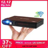 Caiwei S6W Portable poche Mini 3D DLP projecteur LED Home cinéma soutien HD vidéo WIFI Mobile projecteur pour Smartphone projecteurs