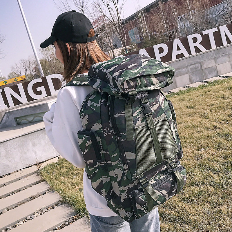 Large-Volume Backpack Outdoor Backpack Mountain Climbing Casual Backpack LOVER'S Bag For Both Men And Women Travel Bag