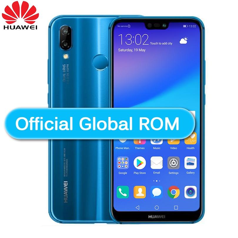 "Huawei P20 Lite Nova 3E Global Firmware 4G Lte Mobilephone Gezicht Id 5.84 ""Scherm Android 8.0 24.0MP Camera 4Gb Ram 64Gb Rom"