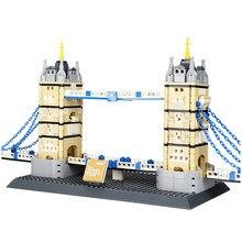 Wange – blocs de Construction en brique pour enfants, 4219 pièces, château de londres, 969, jouets d'enfants à monter soi-même