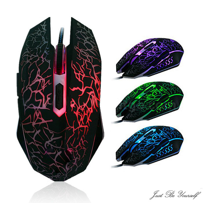 OMESHIN Mouse With Professional Colorful 4000DPI Optical Wired Gaming Mice LED Backlight Optical USB Wired Gamer Mouse Laptop PC