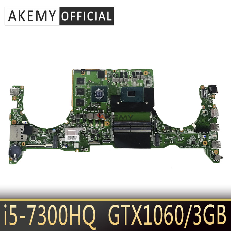 DABKLMB28A0 For ASUS TUF Gaming FX503 FX503V FX503VD Laptop mainboard integrated Test work I5-7300HQ GTX1060/3GB GPU image