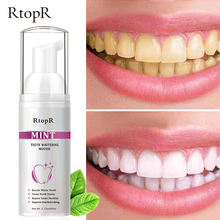 RtopR Teeth Cleansing Whitening Mousse Removes Stains Teeth Whitening Oral Hygiene Mousse Toothpaste Whitening and Staining 60ml