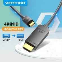 Vention Mini DisplayPort na kabel HDMI 4K HD DP na HDMI dla MacBook Air PC iMac Mini Port wyświetlacza na kabel HDMI Thunderbolt 2