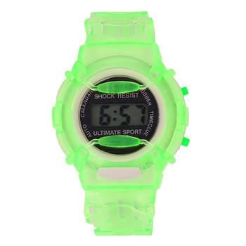Nowe zegarki dziecięce śliczne dziecięce zegarki sportowe zegarki dla dziewczynek chłopcy gumowe dziecięce cyfrowe zegarki LED reloj deportivo tanie i dobre opinie horloges Z tworzywa sztucznego 20cm 3Bar Cyfrowy Klamra ROUND 25mm 15 36mm Akrylowe Stoper Luminous Kompletna kalendarz
